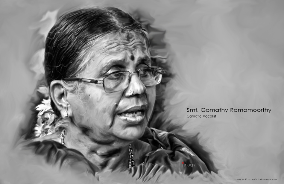 gomathy aunty final portrait painting