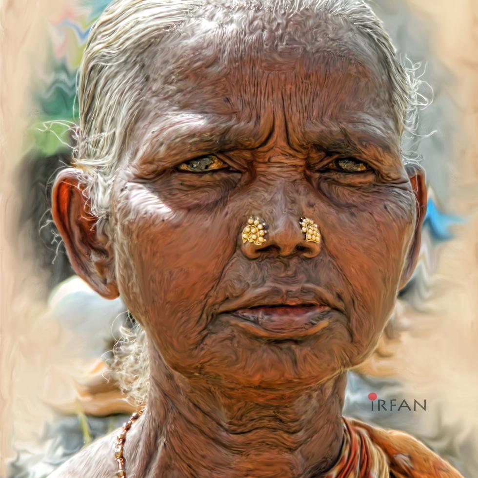 paati grandma portrait painting