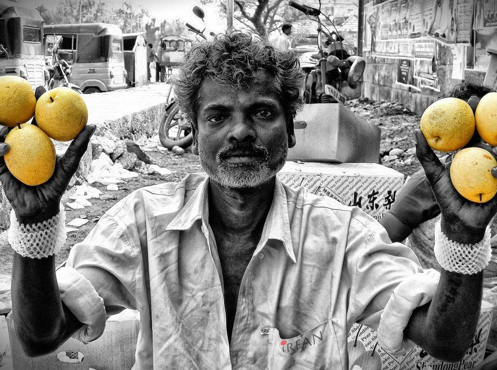 pear man wordpress blog fruit seller