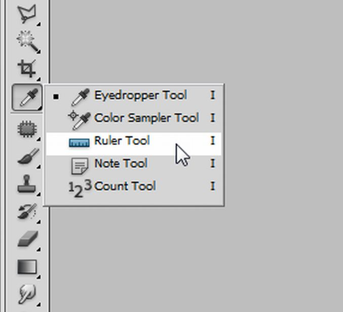 ruler tool mouse pointer