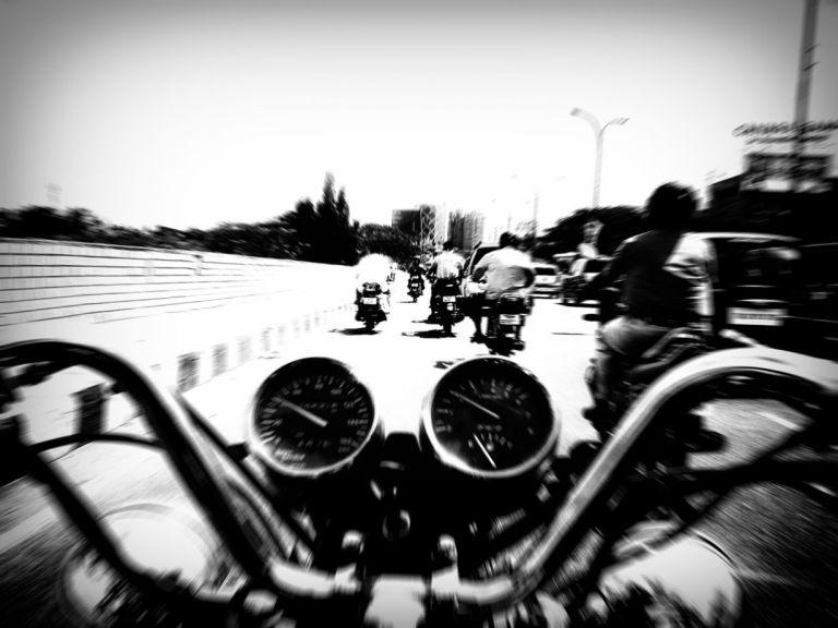 biker's eye view blur wordpress
