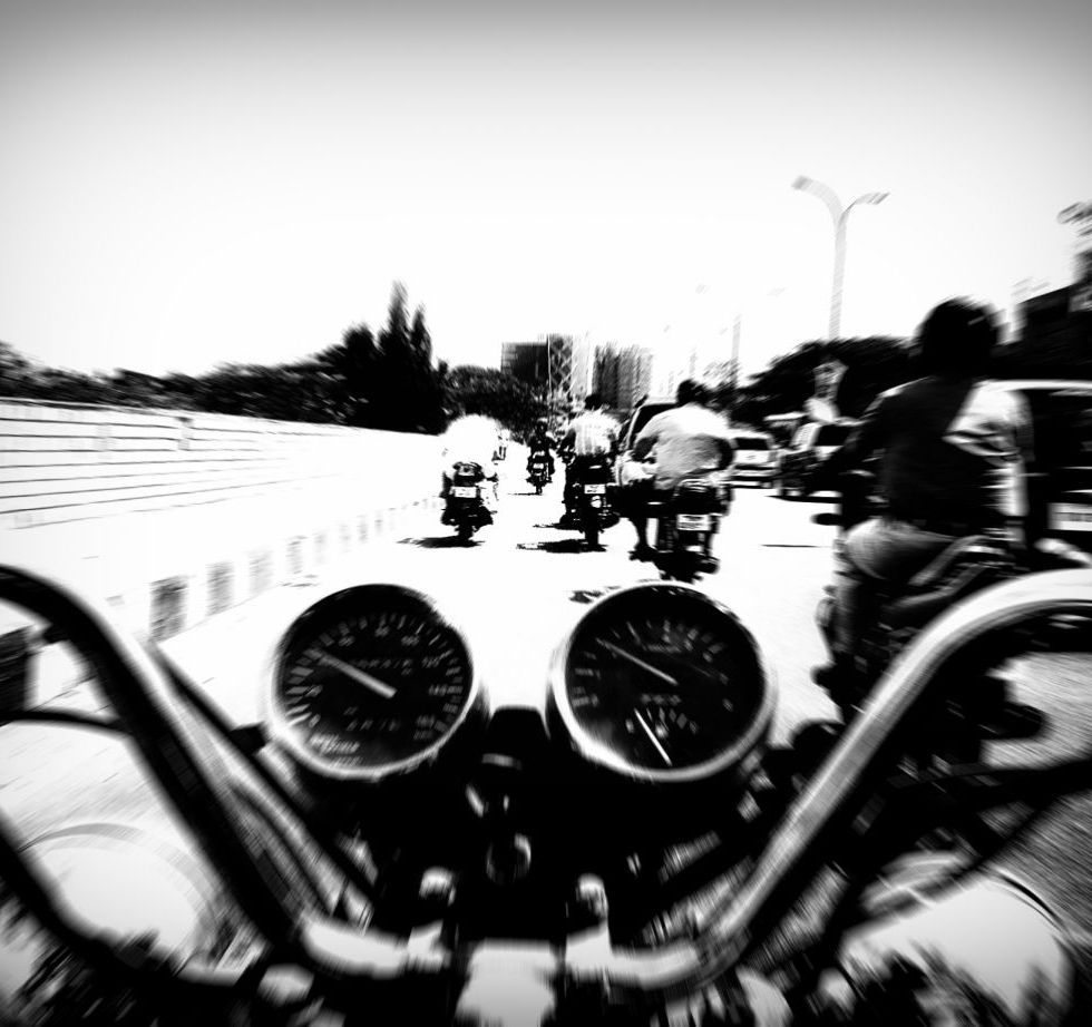 biker's eye view blur wordpress