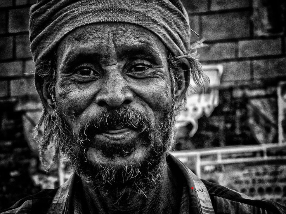 oldman with turban, black and white, portraits, irfan hussain, thereddotman, irfan, hussain