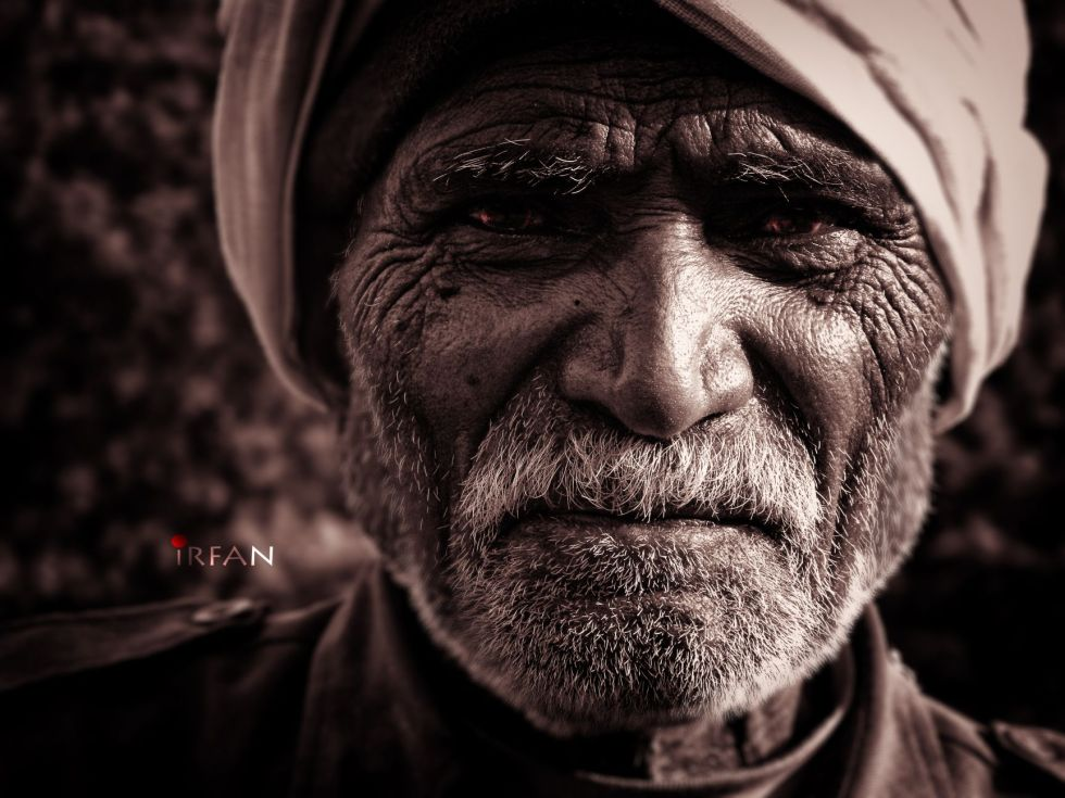 old man, black and white, portraits, irfan hussain, thereddotman, irfan, hussain
