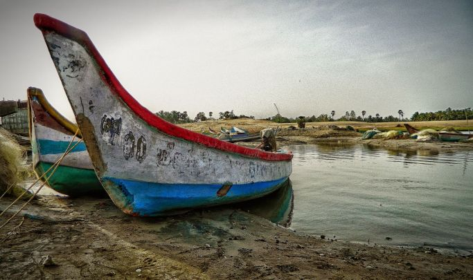 boat, docked, alampari, back waters, irfan, hussain, thereddotman, the red dot man., HDR, High dynamic range, Nikon L120, Nik HDR EFEX