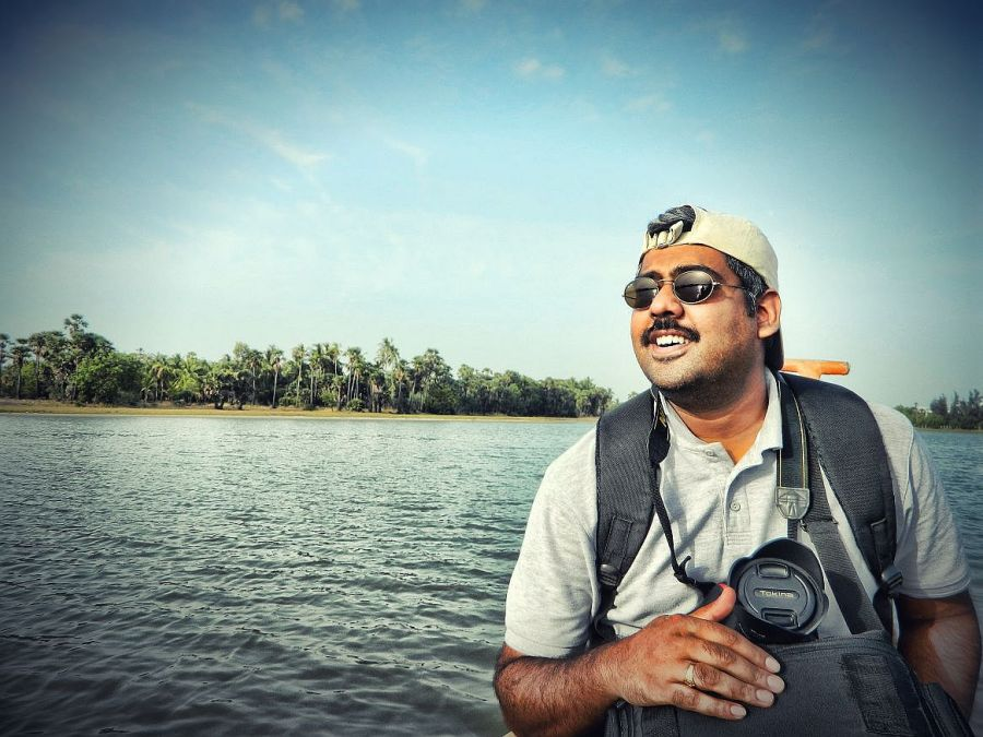 dilip on a boat in alamparai wordpress