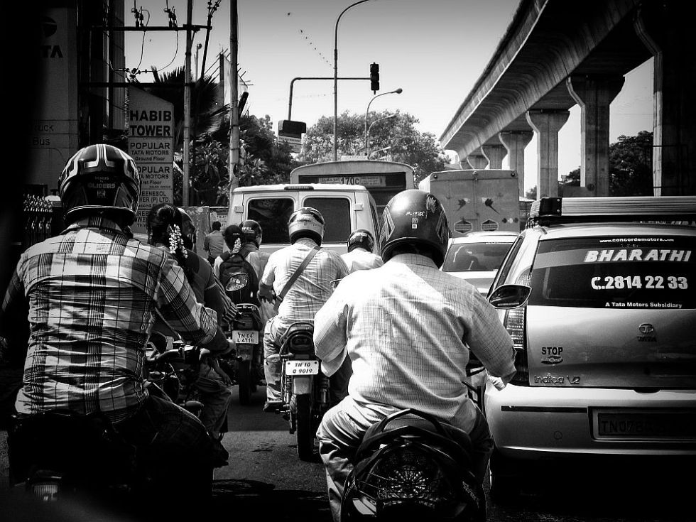 biker traffic in india wordpress