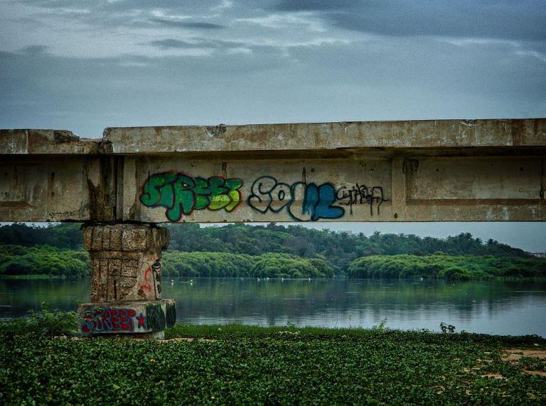 broken bridge besant nagar graffiti wordpress