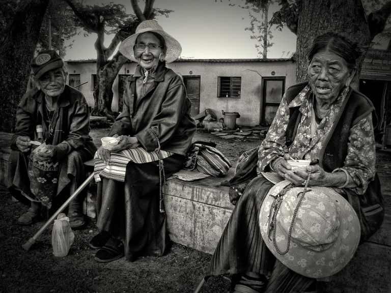 bylakuppe monastery irfan hussain old ladies talking wordpress