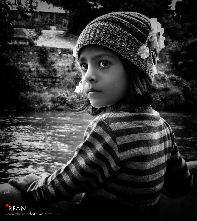 Anum, one of my nieces. The red dot man, Irfan Hussain.