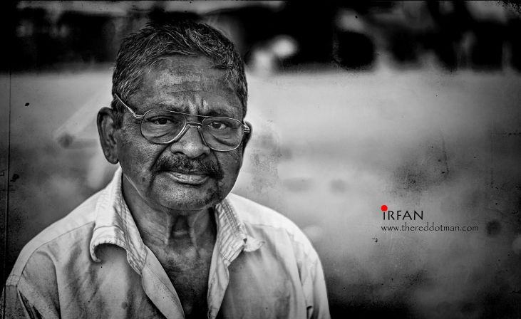 fortune teller, besant nagar, beach, black and white, portraits, irfan hussain, thereddotman, irfan, hussain