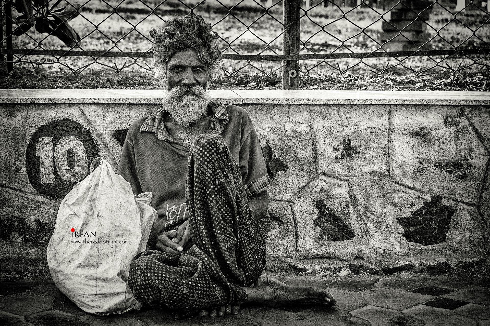 irfan, hussain, thereddotman, black and white, portraits, ice house beach,  nikon d3300