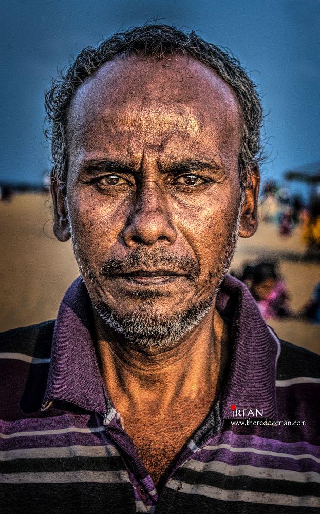 The corn on the cob seller at Gandhi beach