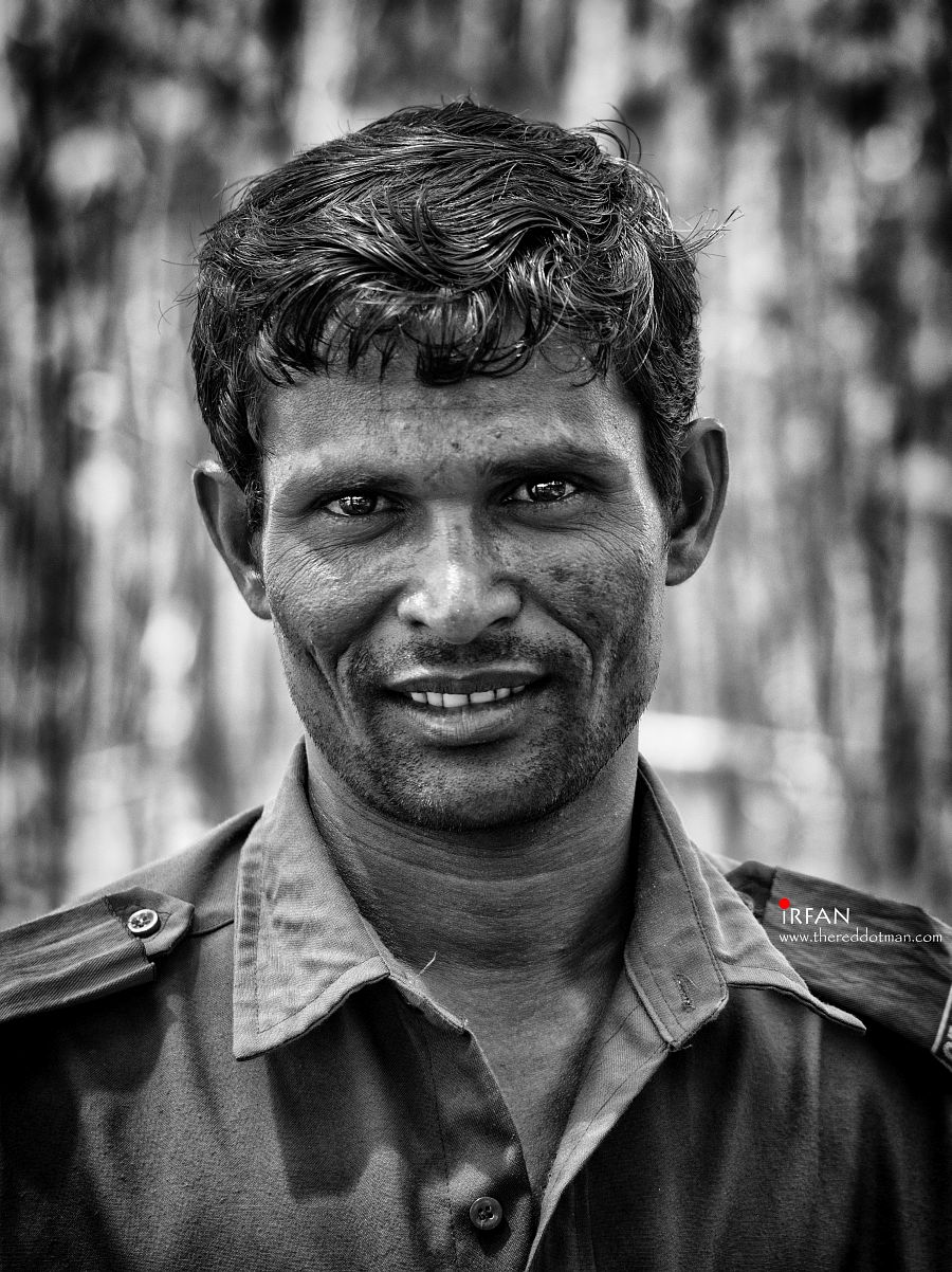 The Grounds Keeper, watchman, security guard, irfan hussain, thereddotman, photoshop, black and white